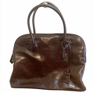 Danier Brown Leather Hand Crossbody Top Handle Bag